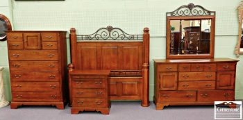 5965-305 5 Piece Sumter Solid Maple Queen Bedroom Set