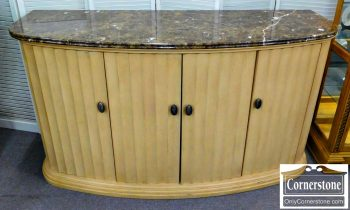 5965-306 Bernhardt Cream Color Marble Top Console Buffet (local delivery not available)