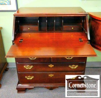 5965-319 Thomasville Cherry Slant TopDrop front Desk