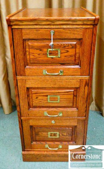 5965-323 Winners Only Oak 3 Drawer File Cabinet