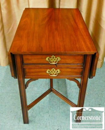 5965-333 Henkel Harris Solid Mahogany Drop Leaf End Table Finish #29