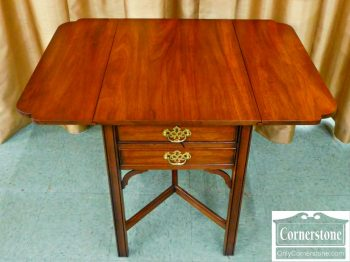5965-333 Z Henkel Harris Solid Mahogany Drop Leaf End Table