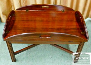 5965-335 Solid Cherry Chippendale Butler Tray Coffee Table