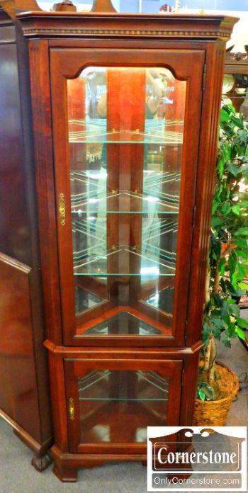 5965-352 Jasper Solid Cherry Corner Curio