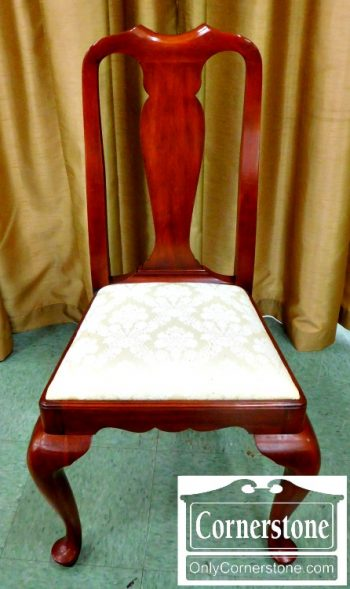 5965-361 Henkel Harris Solid Cherry Queen Anne Side Chair