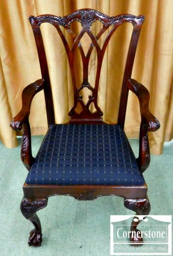 5965-363 10 Drexel Heritage Solid Mahogany Ball and Claw Foot Dining Chairs