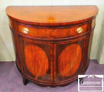 5965-364 Heritage Mahogany Inlaid Demilune Cabinet