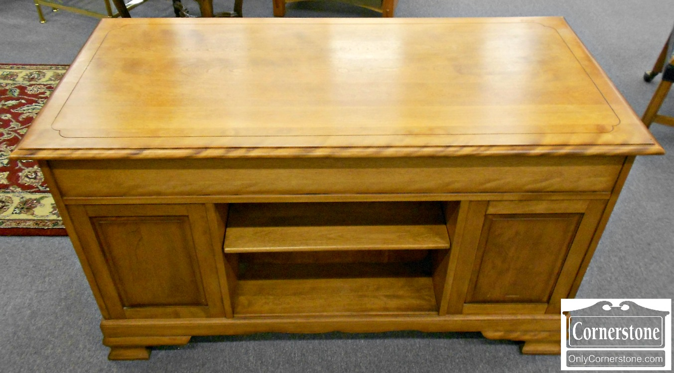 5965-42 Z Cushman Solid Maple Desk with Bookcase Back