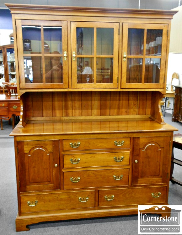 5965-5 Stickley Solid Cherry Hutch or Stepback Cupboard