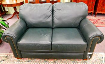 5965-517-flexsteel-green-leather-love-seat