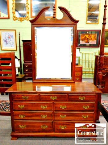 5965-525 Solid Cherry Dresser with Mirror