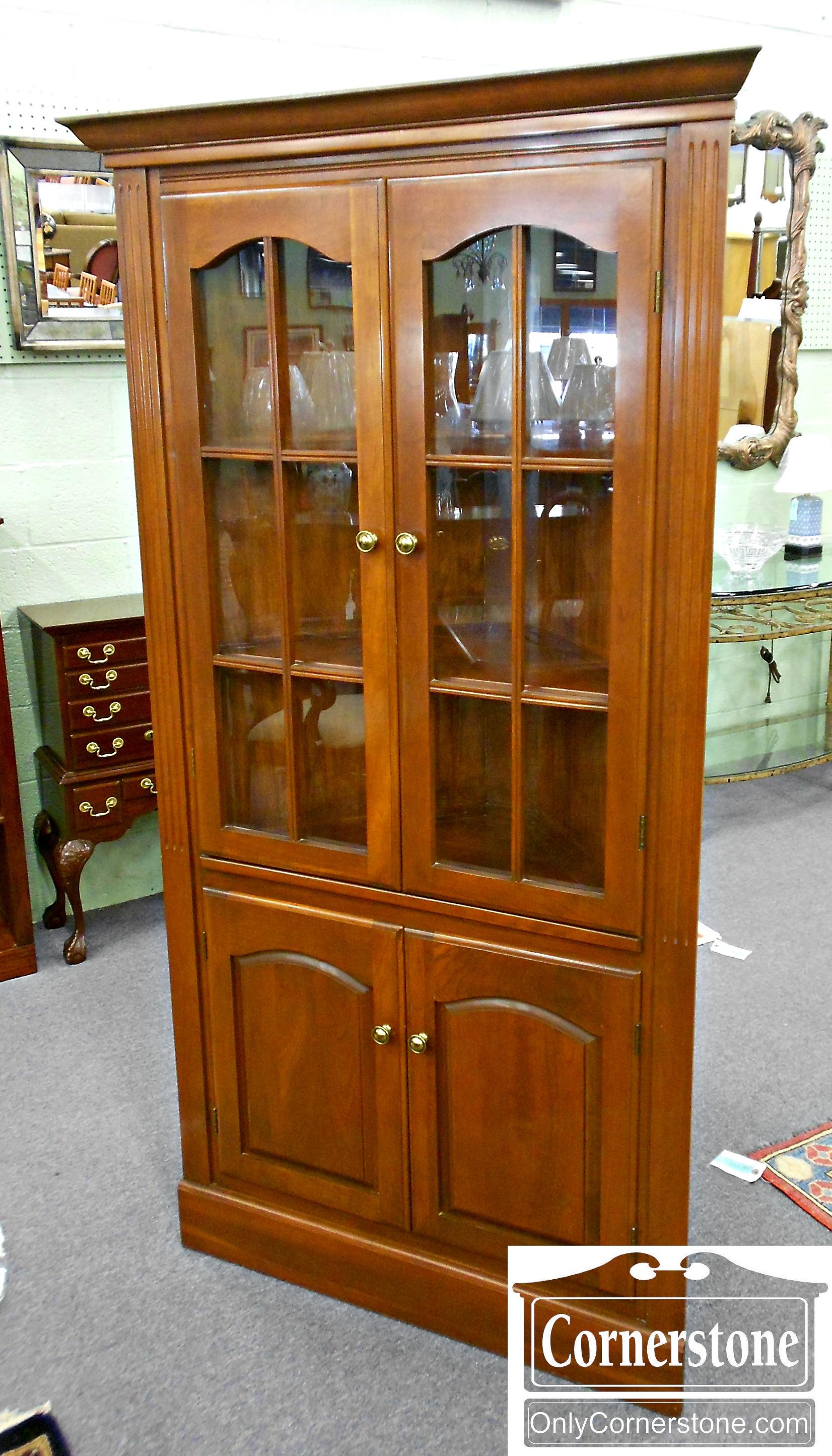 5965-54 Cherry Corner Cabinet