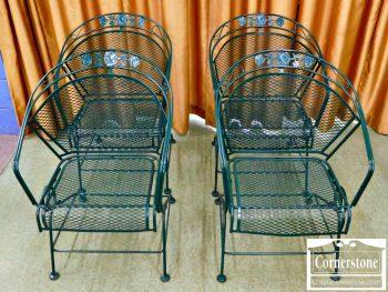 5965-626 Set of 4 Green Patio Rocker Chairs