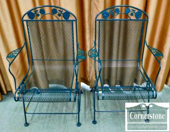 5965-627 Pair of Green Patio Rocker Chairs