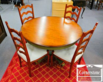 5965-644 Dinette Round Table and 4 Ladderback Chairs