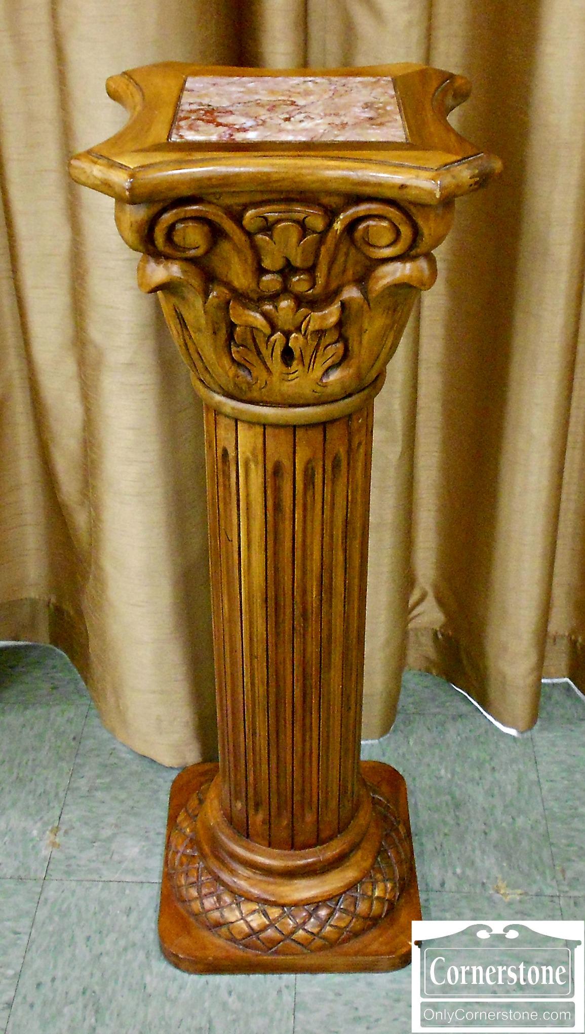 5965-65 Marble Top Pedestal