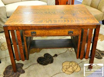 5965-650 - Mission Style Oak Desk