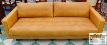 5965-662 Modern Tan Leather Sofa