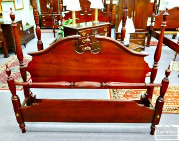 5965-664 - Knob Creek Solid Cherry Queen Poster Bed