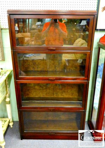 5965-673 - Mahogany 4-Section Barrister Bookcase