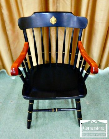 5965-676 - Nichols and Stone Solid Maple Naval Academy Arm Chair