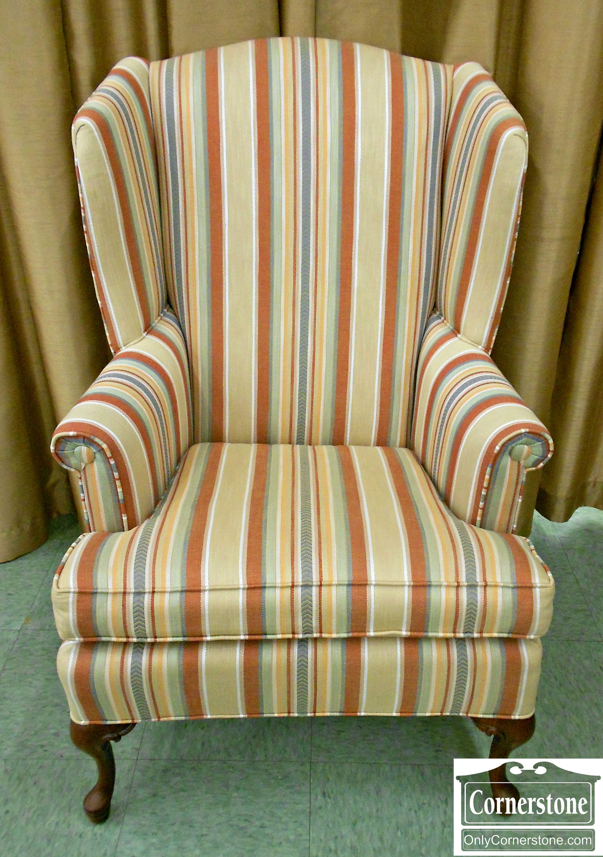 5965-69 Ashley Manor Striped Wingback Chair