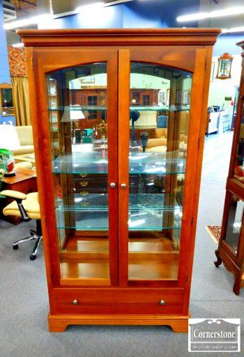 5965-690 - Cherry Curio Cabinet