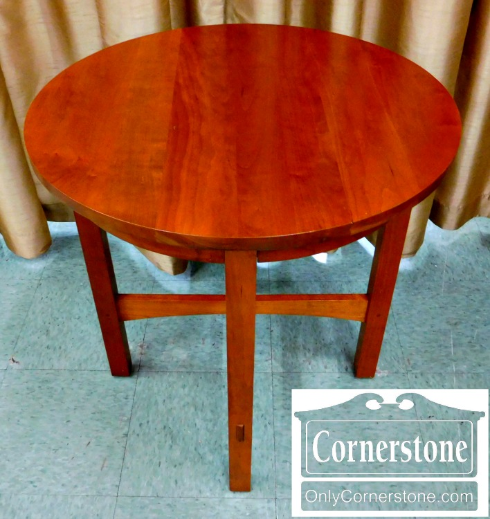 Stickley Solid Cherry Mission Style Round End Table  Baltimore