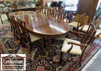 5965-710 - Hickory Chair Mahogany Chippendale Dining Chairs - Set of 8
