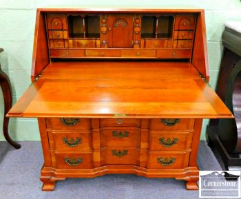 5965-72 Z Maddox Solid Cherry Blockfront Droplid Desk