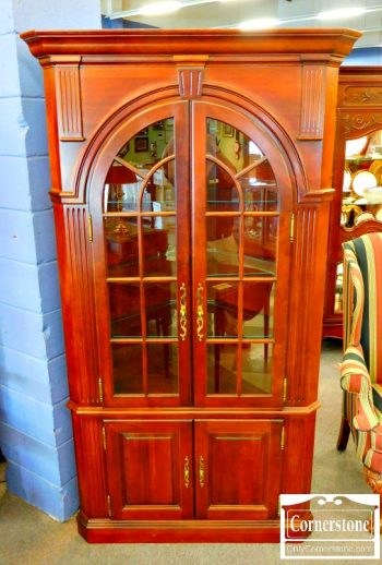 5965-722 - Pennsylvania House Solid Cherry Corner Cabinet