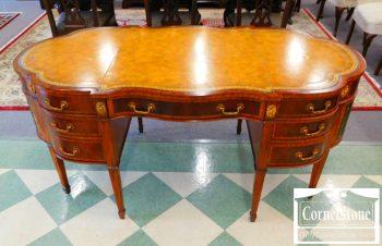 5965-764 - Maitland Smith Mahogany Inlaid Oval LT Desk