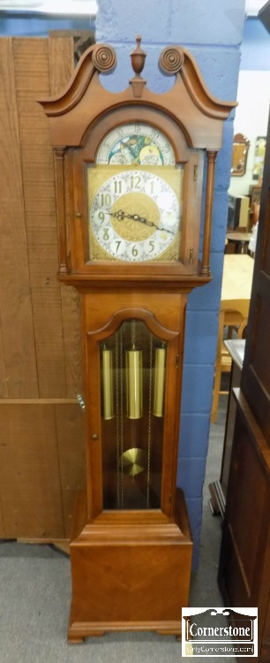 5965-777 - Colonial Mfg Solid Cherry Grandmother's Clock