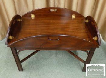 5965-786 - Henkel Harris Inlaid Mahogany Butler Tray Coffee Table