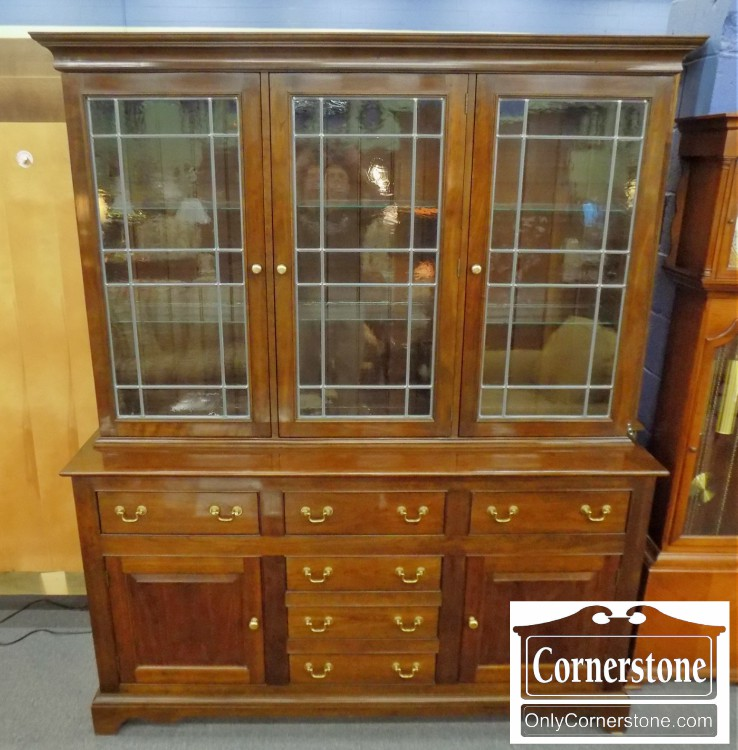 Stickley Solid Cherry Breakfront / China Hutch With Leaded Glass Doors |  Baltimore, Maryland Furniture Store U2013 Cornerstone