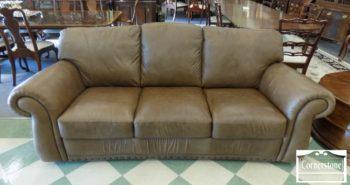 5965-914 - Tan Leather Sofa