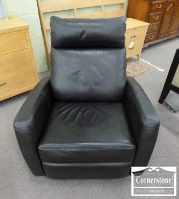 5965-915 - Cellini Contemporary Black Leather Recliner