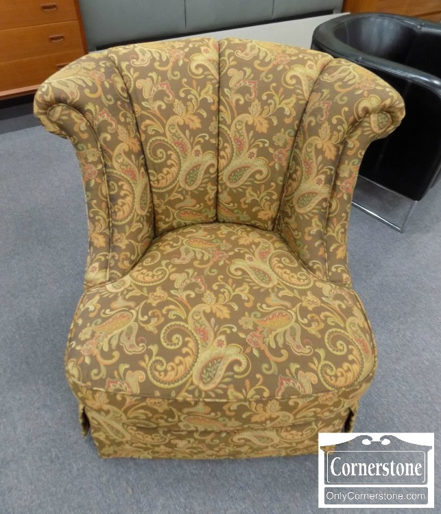 Brown Paisley Upholstered Chair | Baltimore, Maryland Furniture Store U2013  Cornerstone