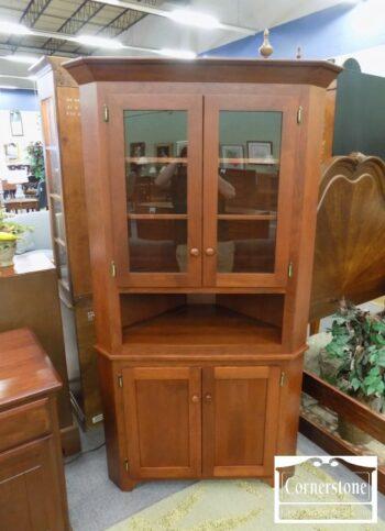 5965-993 - Solid Cherry Corner Cabinet