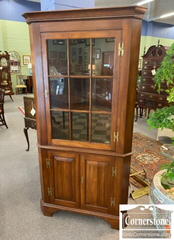 5966-1017 - HH Sol Cher 9 Pane Corner Cabinet