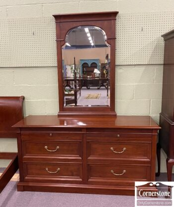 5966-1031 - EA Cherry Dresser and Mirror