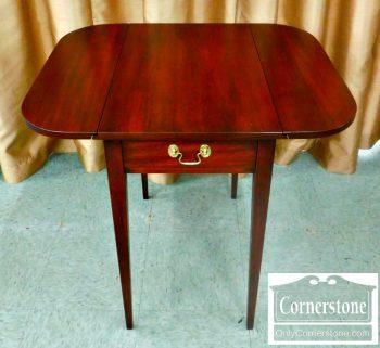 5966-104 Henkel Harris Solid Mahogany Hepplewhite Pembroke Table-2