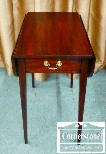 5966-104 Henkel Harris Solid Mahogany Hepplewhite Pembroke Table