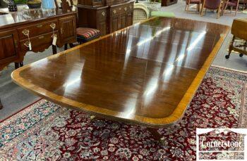 5966-1062 - EA Mah Banded Pedestal Table