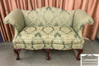 5966-1065 - Southwood Chipp Green Camelback Loveseat