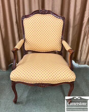 5966-1068 - French Style Yellow Arm Chair