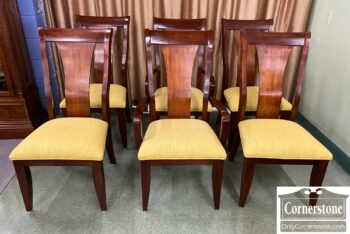 5966-1078 - 6 Casual Chairs Yellow Uph Seats