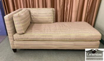 5966-1100 - Contemporary Green Chaise