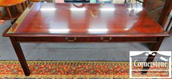 5966-114 Kimball Mahogany Chippendale Library Table