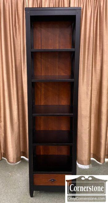 5966-1161 - Arhaus Cont Black Open Shelf Unit Drw